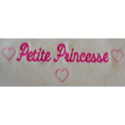 Grand bavoir Rose Coton Biologique Imperméable Petite Princesse