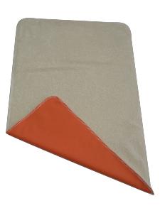 Tapis de change Nomade en Coton Bio - Orange