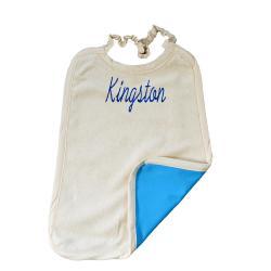 Serviette Maternelle Coton Biologique Imperméable - Ecriture KINGSTON