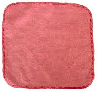 debarbouillette carrée 20 cm - Bambou Rose
