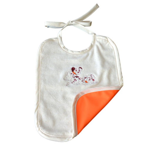 Grand bavoir Orange Coton Biologique Imperméable Dalmatien