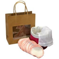 Pochon Petits pois + filet lavage + lingettes au choix