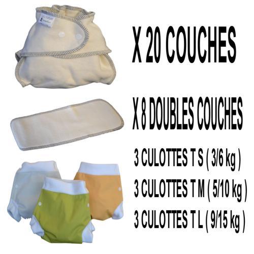 Confort Pack  0-3 ans, 20 couches lavables Modulo Bio - 3 x 3 Lulu Boxer - mixte - Sac de Transport OFFERT