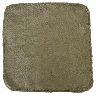 debarbouillette carrée 20 cm - Bambou Gris