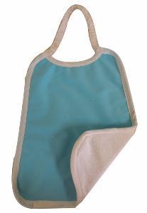Serviette Maternelle Coton Biologique Imperméable TURQUOISE