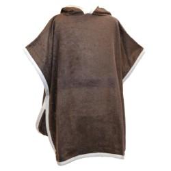 Poncho de bain Bambou couleur Chocolat