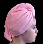 Serviette sèche cheveux Bambou Rose