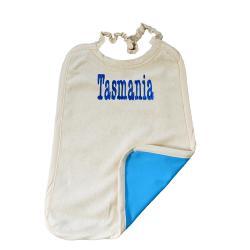 Serviette Maternelle Coton Biologique Imperméable - Ecriture TASMANIA
