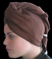 Serviette sèche cheveux Bambou Chocolat