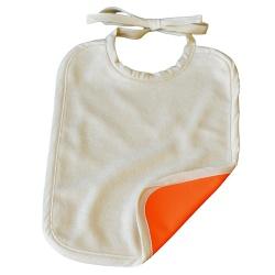 Grand bavoir Coton Biologique Imperméable Orange