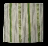 mouchoir coton bio rayé vert, 20x20 cm