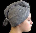 Serviette sèche cheveux Bambou Gris