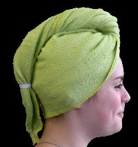 Serviette sèche cheveux Bambou Vert