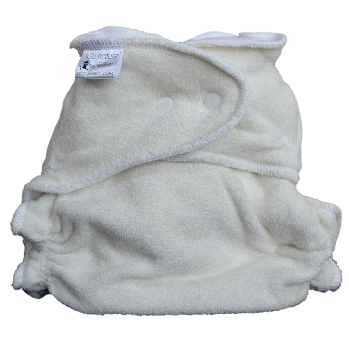 Couche Lavable Dodo Bambou XL 12/20 kg  - Bambou polaire blanc