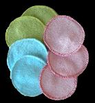Lot  7 maxi disques Démaquillant Peps Bambou couleur
