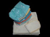 Pack complet 0-3 ans, 9 EcoCouche Lavable coloris mixte - 18 Inserts Chanvre