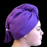 Serviette sèche cheveux Bambou Violet