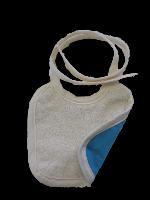 Petit Bavoir Coton Biologique imperméable - aqua