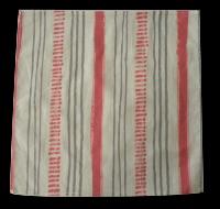 mouchoir coton bio rayé rose, 20x20 cm