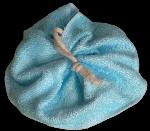 Tawashi, fleur de douche, bambou Bleu