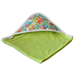 cape de bain bambou all color Vert- Capuche Minou