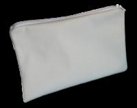 pochette à zip, trousse de toilette et maquillage, FEMINI - Blanc