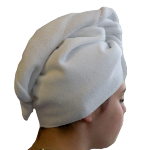 Serviette sèche cheveux Microfibre blanc