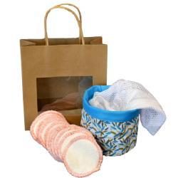 Pochon Feuilles + filet lavage + lingettes au choix