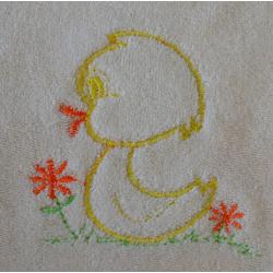 Grand bavoir Jaune Coton Biologique Imperméable Poussin