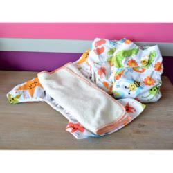 Mini Pack 5-15 kg, 3 Eco Couche lavable coloris imprimé - 6 Inserts