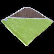 cape de bain bambou all color vert capuche chocolat