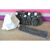 Mini Pack 4 couches lavables Evolutive Lulu Bambou Charbon + 1 Boxer Uni ou Imprimé à partir de
