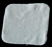 débarbouillette carrée 20 cm - Bambou Ecru