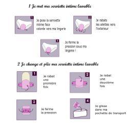 Lot 4 Serviettes intime lavable - jour - Chanvre