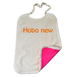 Serviette Maternelle Coton Biologique Imperméable - Ecriture HOBO NEW
