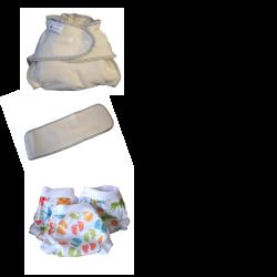 Start Pack, 16 couches lavables Evolutive Modulo Bio (coton bio) + 3 Lulu Boxer Uni ou Imprimés - taille au choix - A partir de