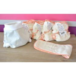 Mini Pack 4 couches lavables Evolutive Lulu Bambou + 1 Boxer Uni ou Imprimé à partir de