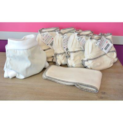 Mini Pack 4 couches lavables Evolutive Modulo Bio + 1 Boxer Uni ou Imprimé à partir de