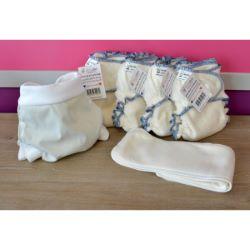 Mini Pack 4 couches lavables Evolutive DOOble nature chanvre + 1 Boxer Uni ou Imprimé à partir de