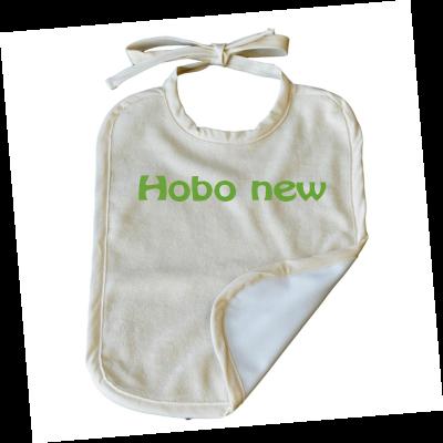Grand bavoir Coton Biologique Imperméable  personnalisable Ecriture HOBBO NEW