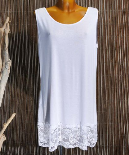 LALY TOP SOUS VETEMENT GRANDE TAILLE BLANC