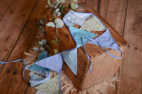 Blue decorative pennant