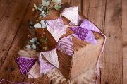 Bandierine decorative viola