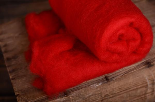 Red wool blanket