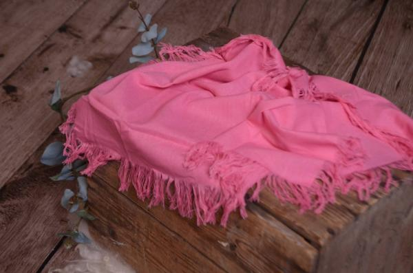 Fuchsia pink fringed little fabric