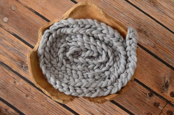 Trenza de lana gris