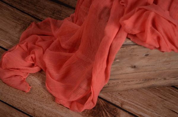 Wrap muselina coral