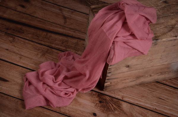 Wrap di mussolina rosa antico