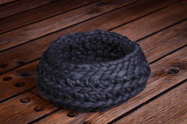 Purple wool basket