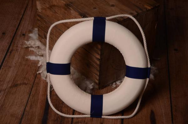 Decorative blue life preserver 30 cm